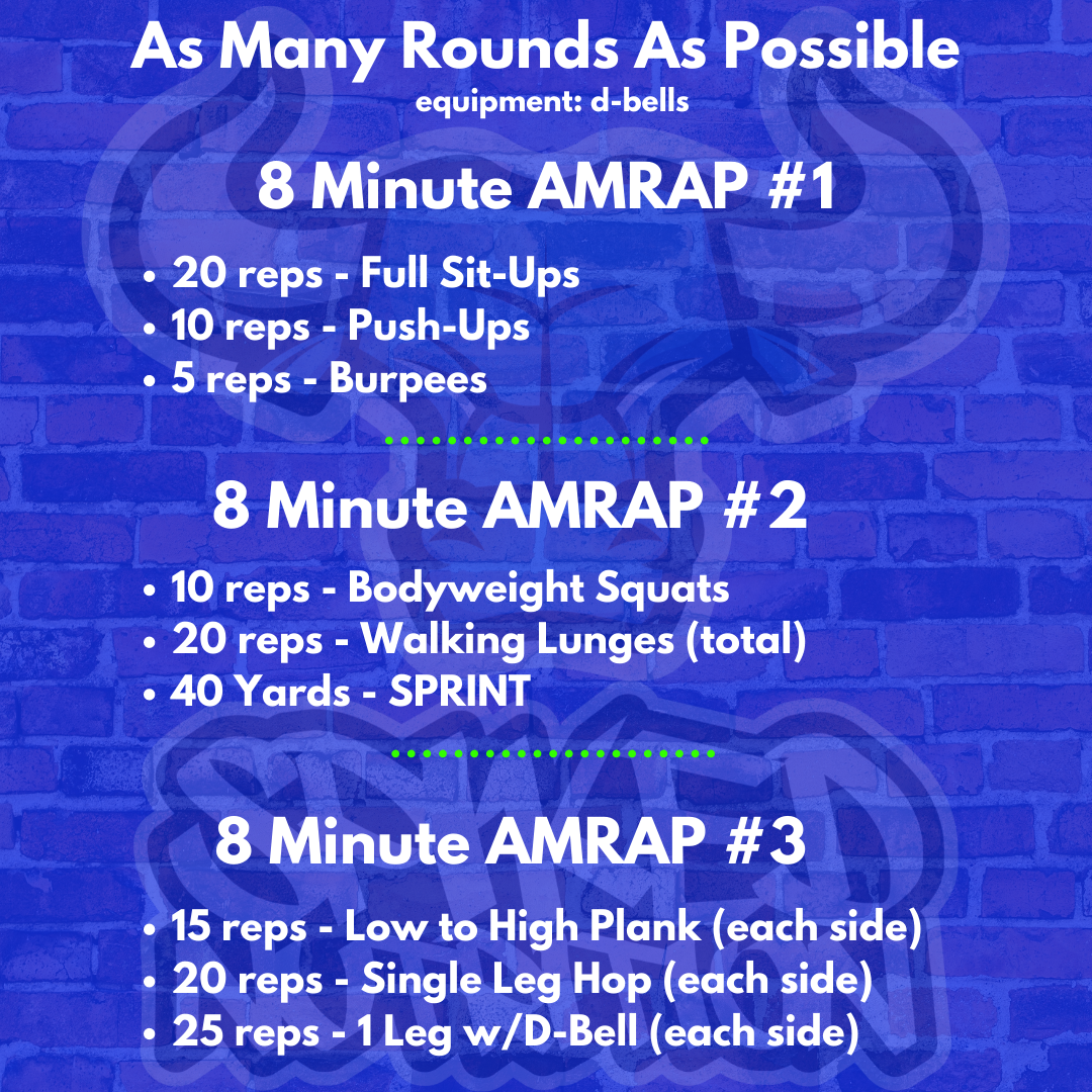 AMRAP WORKOUT Spiked Nutrition